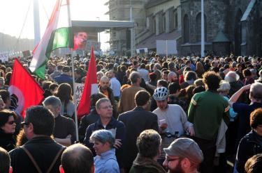 Március 15. tüntetés 4. – Szilágyi Lenke